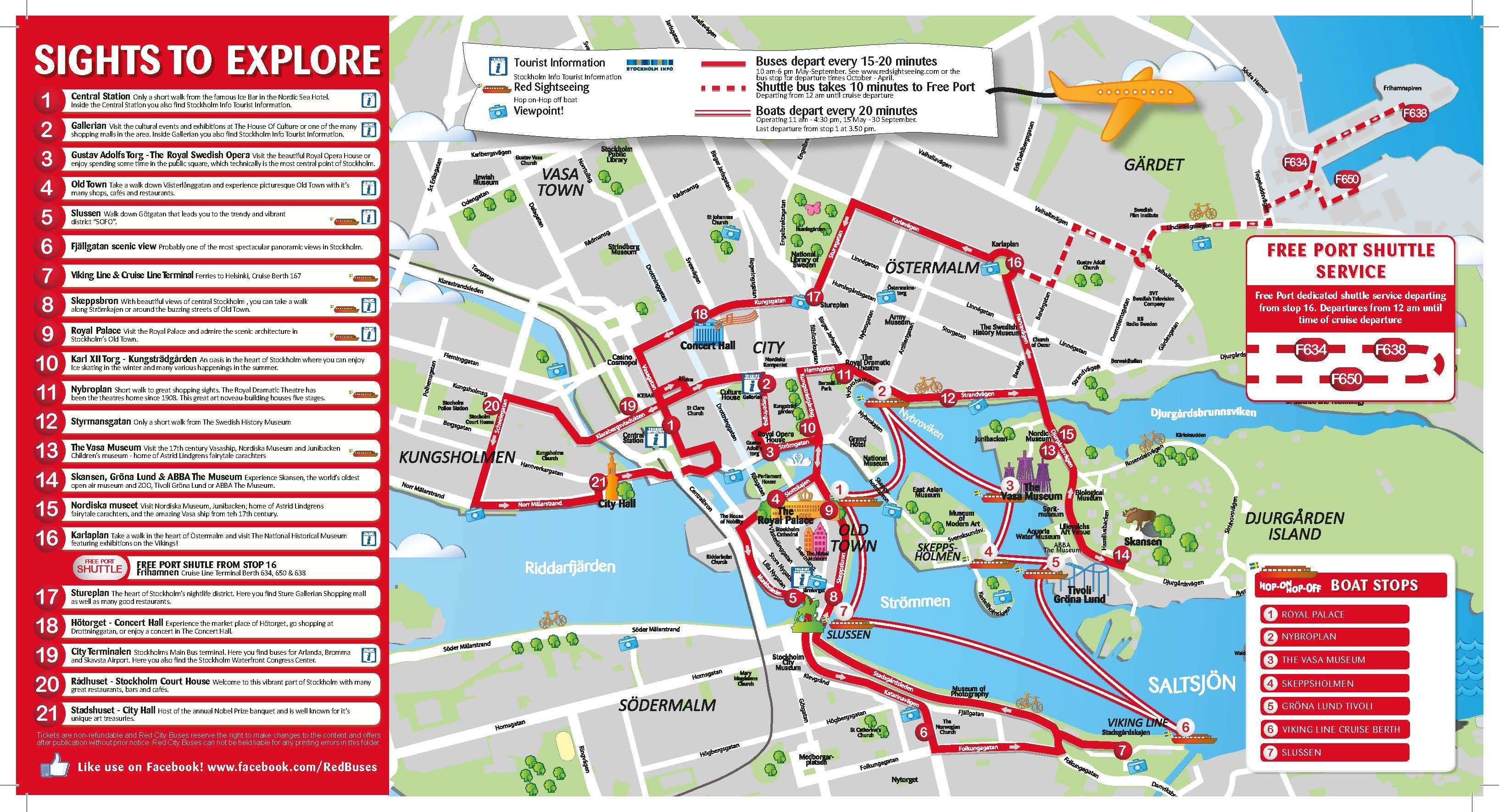 Visite De La Ville Stockholm Carte